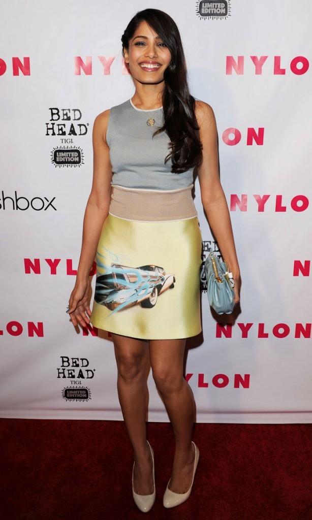 Freida Pinto à l'anniversaire du magazine Nylon