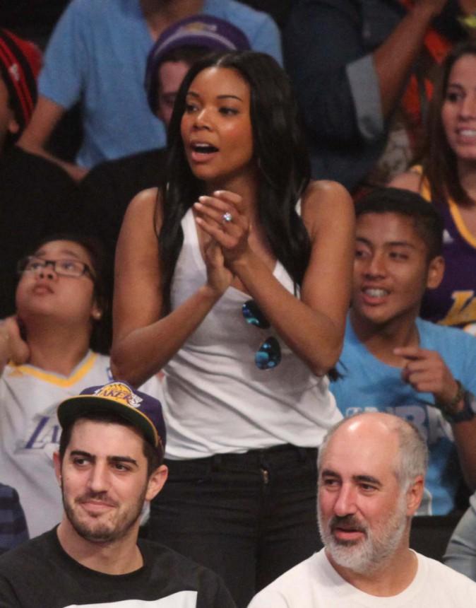 Gabrielle Union lors du match de basket des Miami Heat contre les L.A. Lakers à Los Angeles, le 25 décembre 2013.