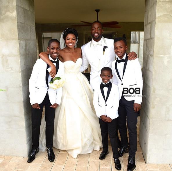 Gabrielle Union et Dwyane Wade : découvrez les tenues qu'ils portaient pour leur mariage à 5 millions de dollars !