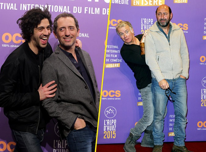 """Photos : Gad Elmaleh : bien entouré pour lancer le festival de l'Alpe D'huez : """"Il faut que le rire nous rassemble"""" !"""
