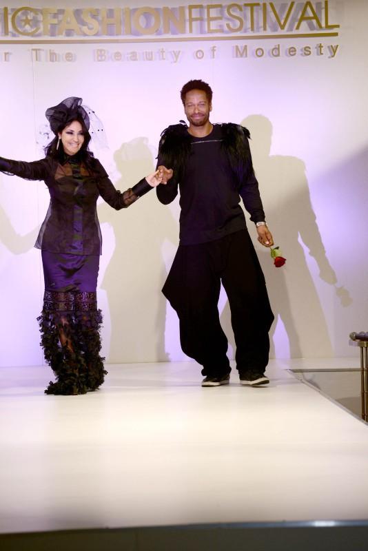 Gary Dourdan lors de l'Islamic Fashion Festival à Paris, le 23 septembre 2013.
