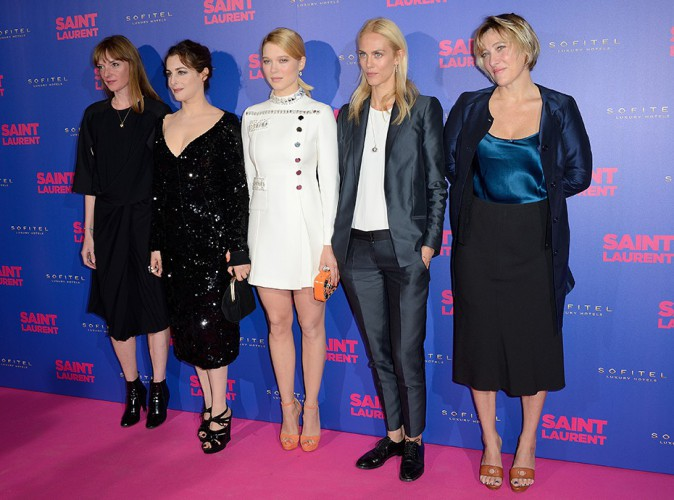 Jasmine Trinca, Amira Casar, Léa Seydoux, Aymeline Valade et Valeria Bruni Tedeschi à Paris le 23 septembre 2014