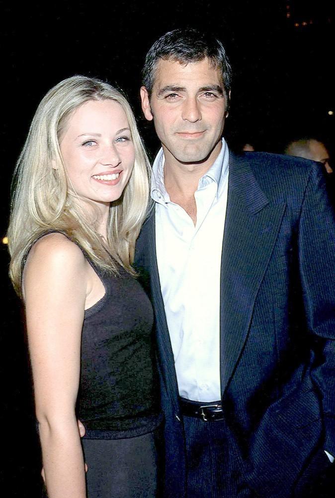George Clooney en 1997 avec Céline Balitran