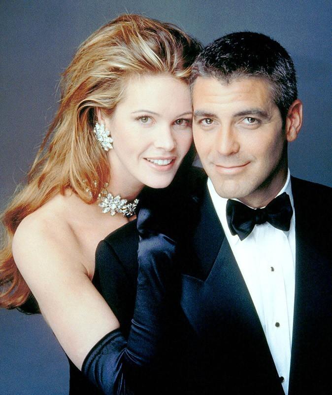 George Clooney en 1997, avec le top Elle Macpherson