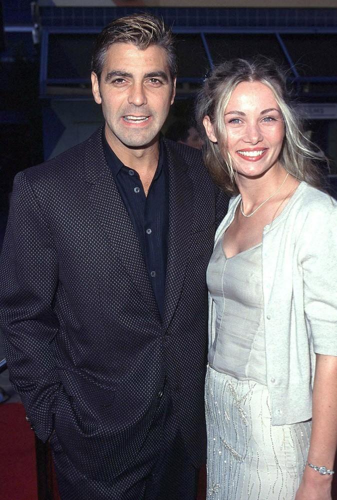 George Clooney en 1998 avec Céline Balitran