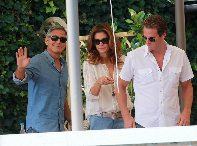 George Clooney et Cindy Crawford à Venise le 27 septembre 2014
