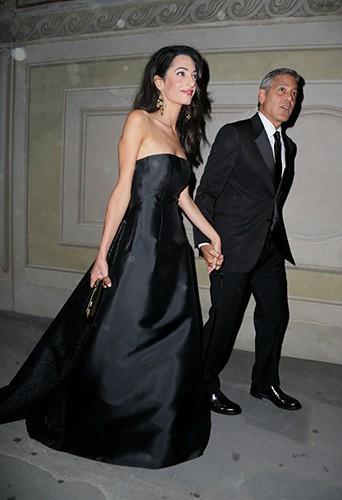 Amal Alamuddin et George Clooney à Florence le 7 septembre 2014
