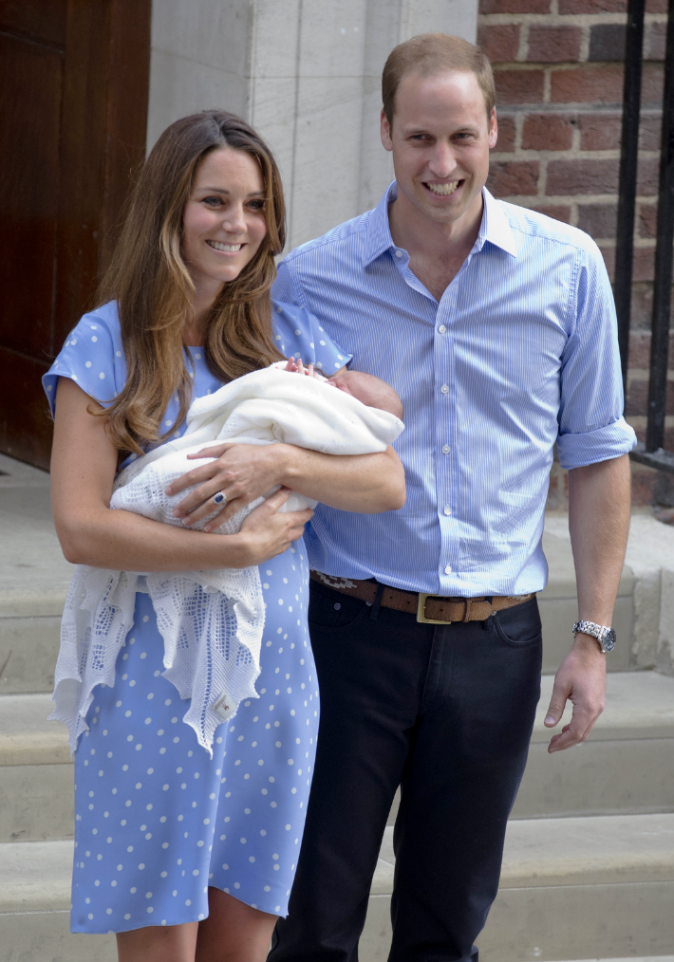 Le prince George à sa naissance