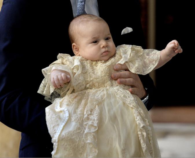 Le prince George à son baptême
