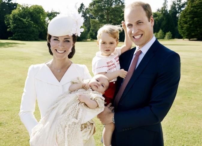Le prince George au baptême de Charlotte de Cambridge