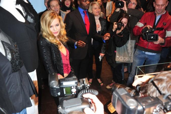 Georgia May Jagger lors de la présentation de la nouvelle collection Hudson Jeans au Montaigne Market, le 3 mars 2011 à Paris.