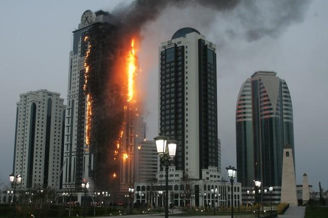 L'appartement de Gérard Depardieu ravagé par les flammes à Grozny
