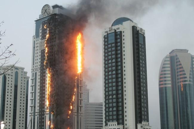 Tout l'immeuble a brûlé