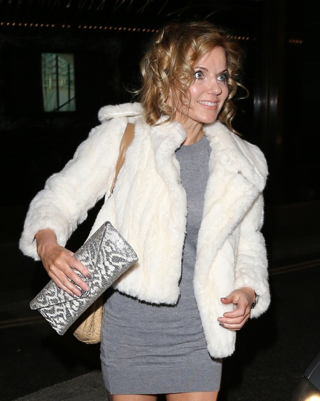 Geri Halliwell à Londres le 18 décembre 2012