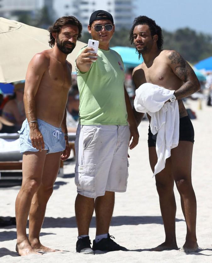 Andra Pirlo et Marcelo rencontrent un supporter