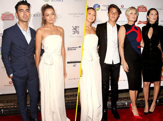 Joe Jonas, Gigi Hadid et sa famille le 8 octobre 2015 à New York