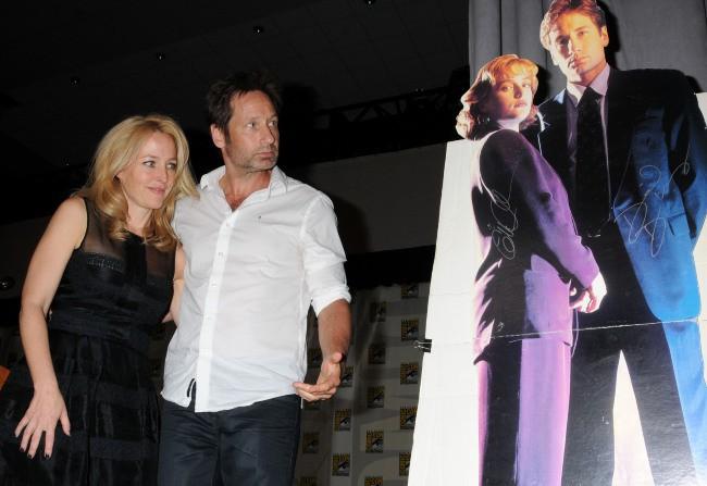 Gillian Anderson et David Duchovny lors du Comic-Con à San Diego, le 18 juillet 2013.