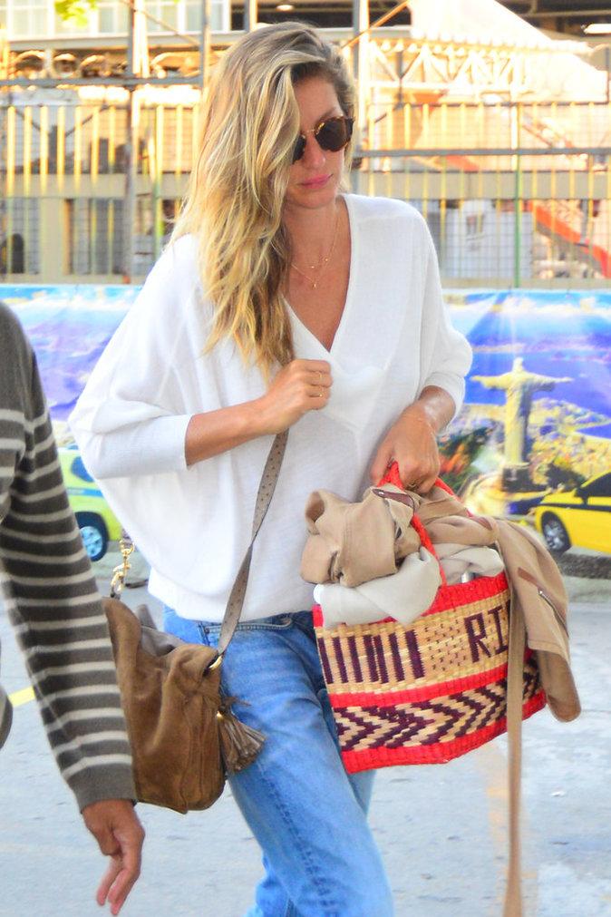 Gisele Bündchen à l'aéroport de Rio de Janeiro ce mardi 30 août