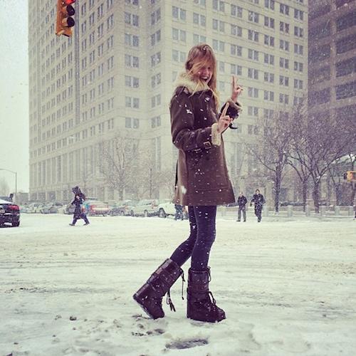 Photos : Gisele Bündchen, Jessica Alba, Zac Efron : tous dans la tempête de neige à New York !