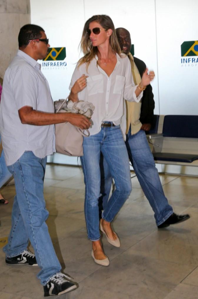 Gisele Bündchen à Rio de Janeiro le 24 août 2014