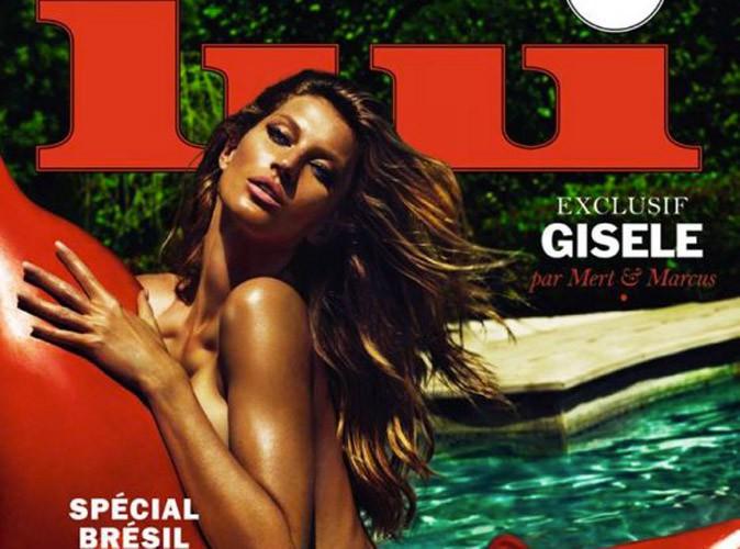 Photos : Gisele Bündchen : le top brésilien pose complètement nue en Une de Lui !