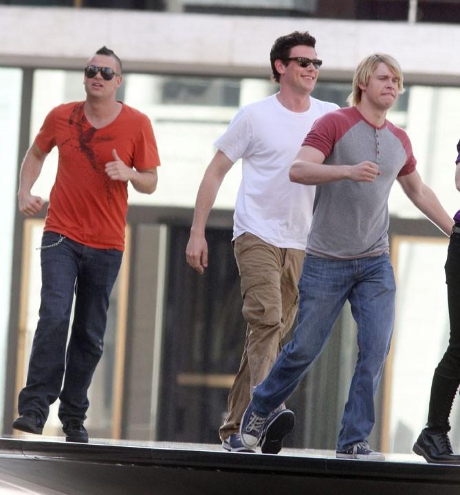 Mark Salling, Cory Monteith, Chord Overstreet : pluie de beaux gosses à New York !