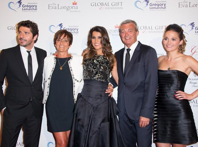 Patrick Fiori, Laurence Lemarchal, Karine Ferri, Pierre Lemarchal et Leslie Lemarchal à Paris le 12 mai 2014