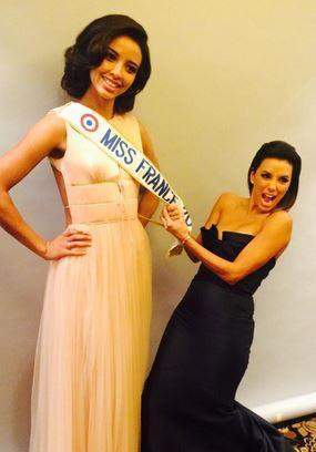 Flora Coquerel et Eva Longoria lors du Global Gift Gala à Paris, le 12 mai 2014.