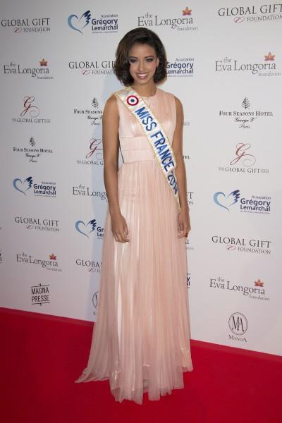 Flora Coquerel lors du Global Gift Gala à Paris, le 12 mai 2014.