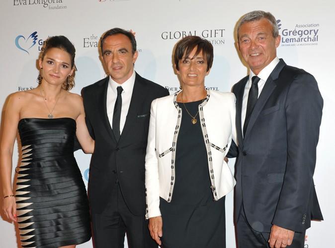 Leslie Lemarchal, Nikos Aliagas, Laurence et Pierre Lemarchal à Paris le 12 mai 2014