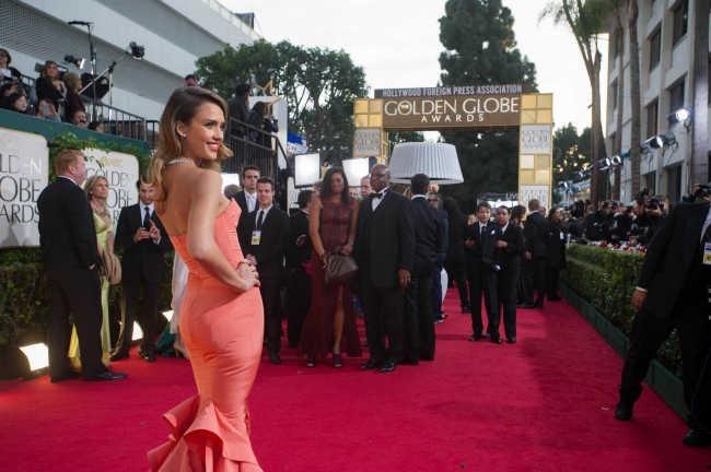 Jessica Alba lors de la 70e cérémonie des Golden Globes à Los Angeles, le 13 janvier 2013.