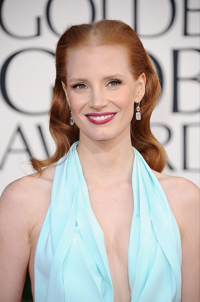 Jessica Chastain le 13 janvier 2013 à Hollywood