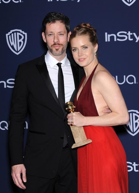 Amy Adams et son fiancé Darren Le Gallo lors de la cérémonie des Golden Globes à Beverly Hills, le 12 janvier 2014.