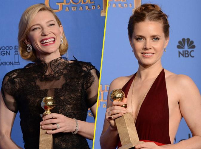 Cate Blanchett et Amy Adams, grandes gagnantes de la cérémonie des Golden Globes à Beverly Hills, le 12 janvier 2014.