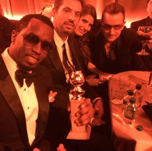 P. Diddy joue les groupies avec U2 !