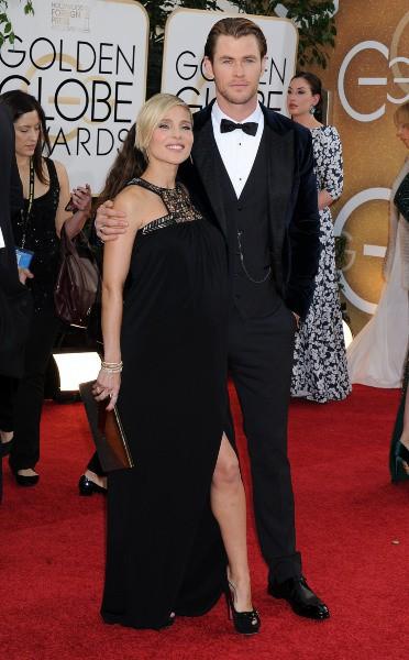 Elsa Pataky et Chris Hemsworth lors de la cérémonie des Golden Globes à Beverly Hills, le 12 janvier 2014.