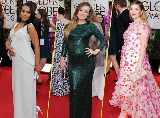 Kerry Washington, Olivia Wilde et Drew Barrymore lors de la cérémonie des Golden Globes à Beverly Hills, le 12 janvier 2014.