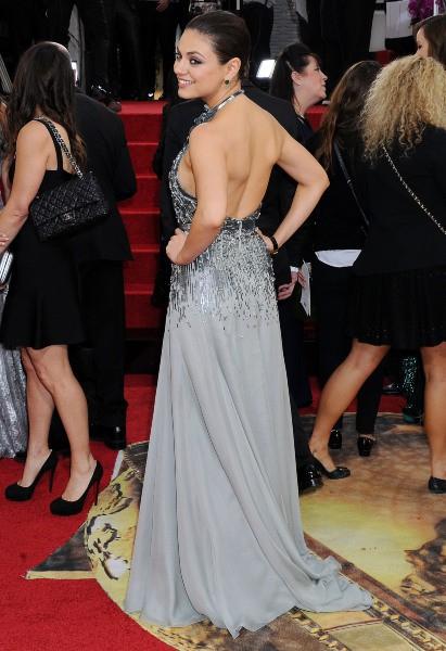 Mila Kunis lors de la cérémonie des Golden Globes à Beverly Hills, le 12 janvier 2014.