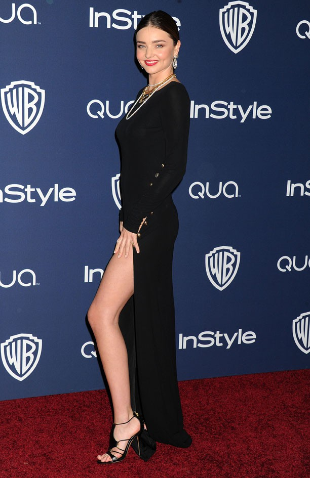 Miranda Kerr à l'after-party organisée par la Warner Bros et In Style à Los Angeles le 12 janvier 2014
