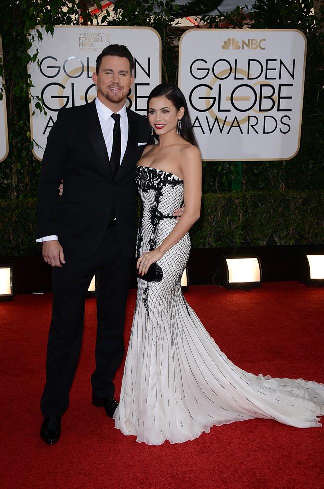 Channing Tatum et Jenna Dewan à la cérémonie des Golden Globes 2014