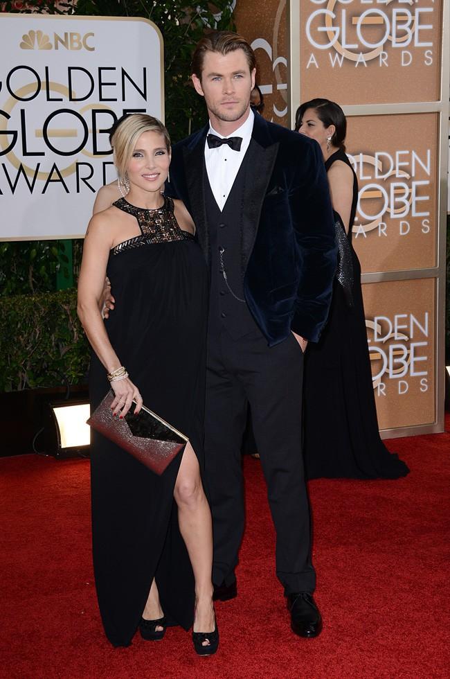 Elsa Pataky et Chris Hemsworth à la cérémonie des Golden Globes 2014