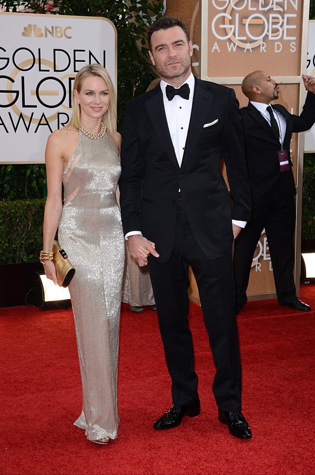 Naomi Watts et Liev Schreiber à la cérémonie des Golden Globes 2014