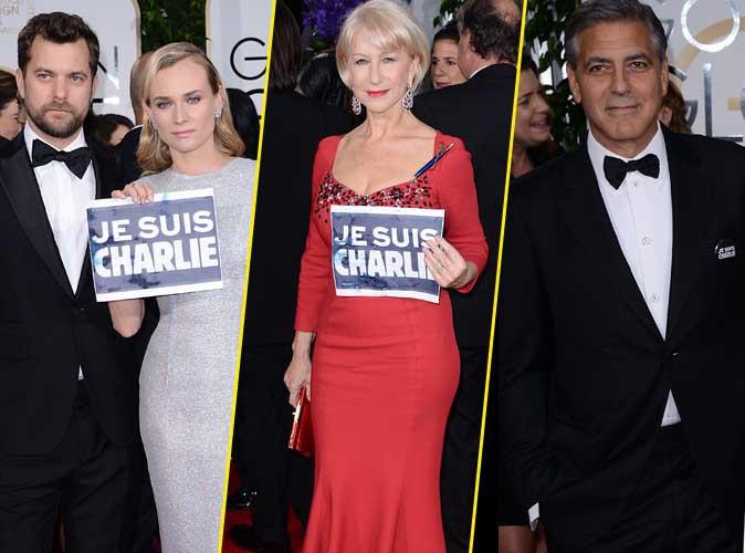 Golden Globes 2015 : Diane Krüger, Helen Mirren, George Clooney... Eux aussi sont Charlie !