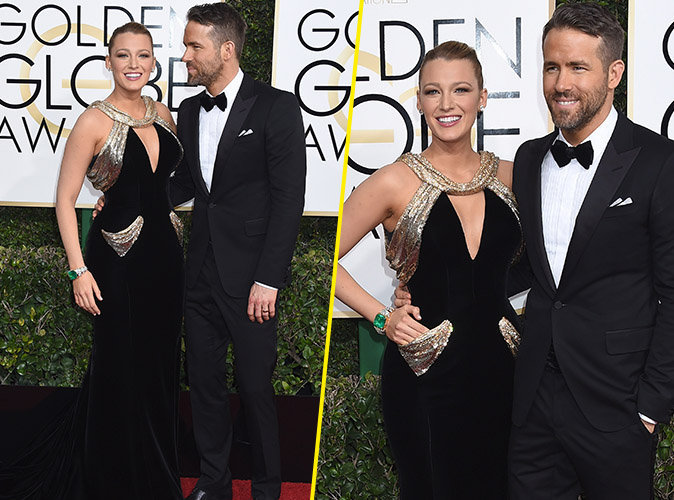 Golden Globes 2017 : Blake Lively et Ryan Reynolds : toujours aussi parfaits sur le tapis rouge !