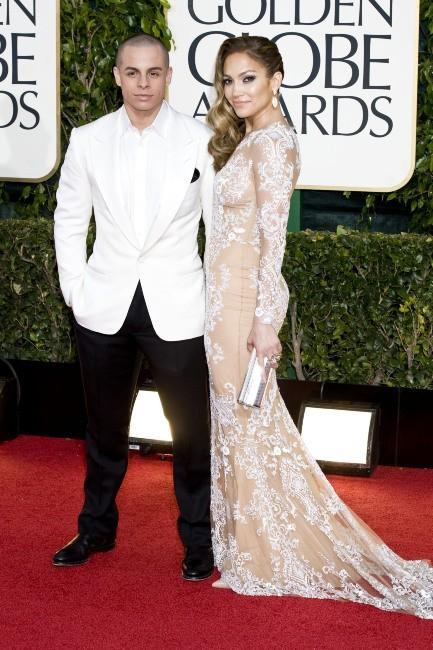Casper Smart et Jennifer Lopez lors de la 70e cérémonie des Golden Globes à Los Angeles, 13 janvier 2013.