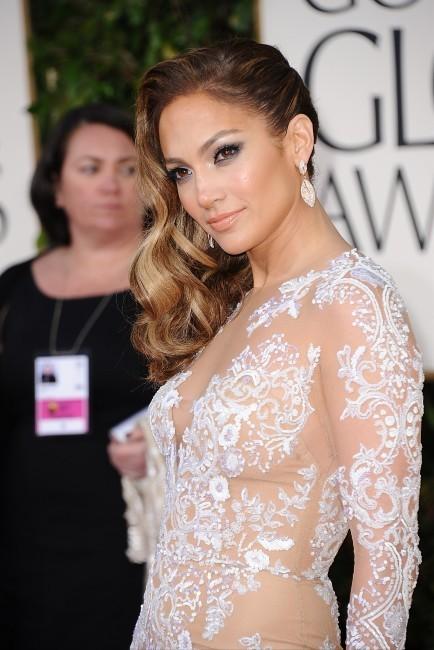 Jennifer Lopez lors de la 70e cérémonie des Golden Globes à Los Angeles, 13 janvier 2013.