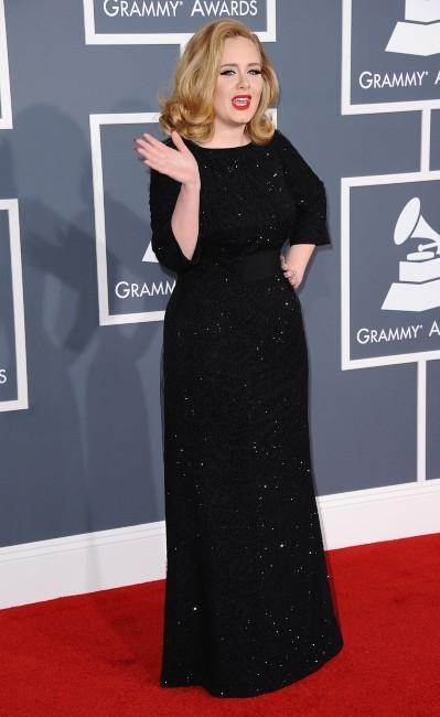 Adele lors de la cérémonie des Grammy Awards à Los angeles, le 12 février 2012.