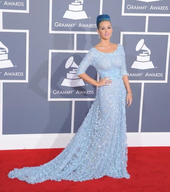Katy Perry lors de la cérémonie des Grammy Awards à Los Angeles, le 12 février 2012.