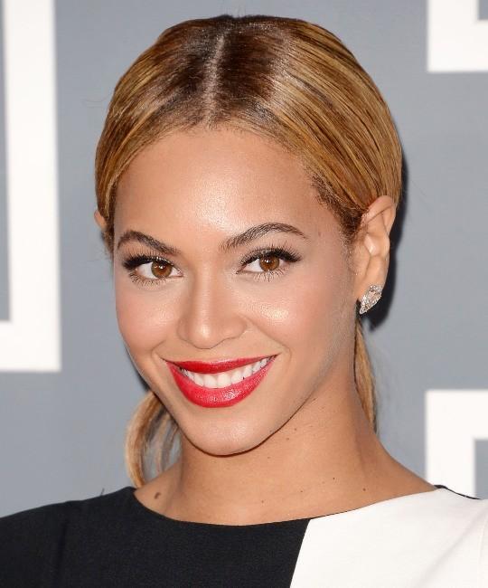 Beyoncé lors de la 55e cérémonie des Grammy Awards à Los Angeles, le 10 février 2013.