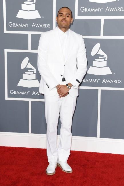 Chris Brown lors de la 55e cérémonie des Grammy Awards à Los Angeles, le 10 février 2013.